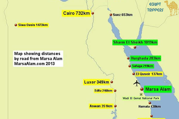 The most important cities near Marsa Alam