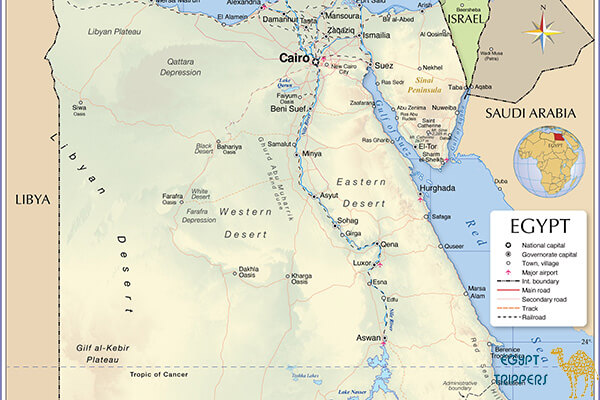 Where is Taba located on the map