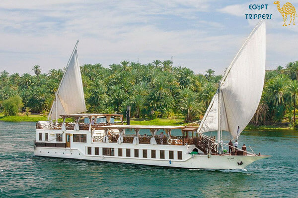 cruising on a Nile boat
